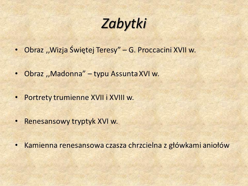 Zabytki Obraz ,,Wizja Świętej Teresy – G. Proccacini XVII w.