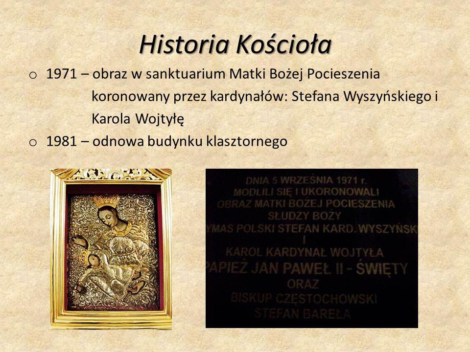 Historia Kościoła 1971 – obraz w sanktuarium Matki Bożej Pocieszenia