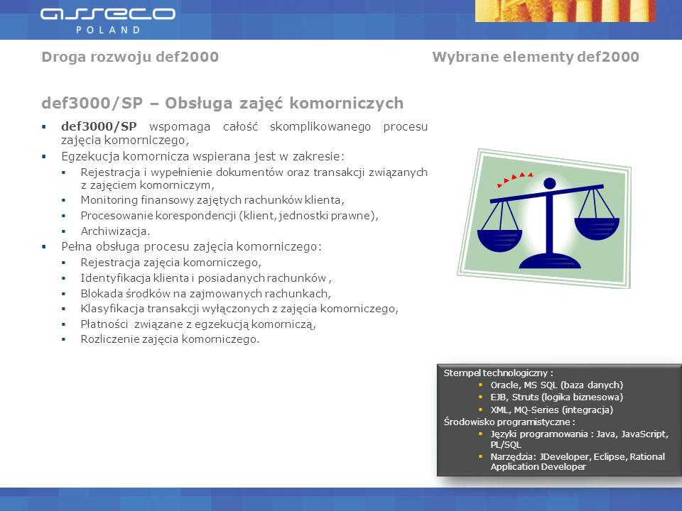 Droga rozwoju def2000 Wybrane elementy def2000