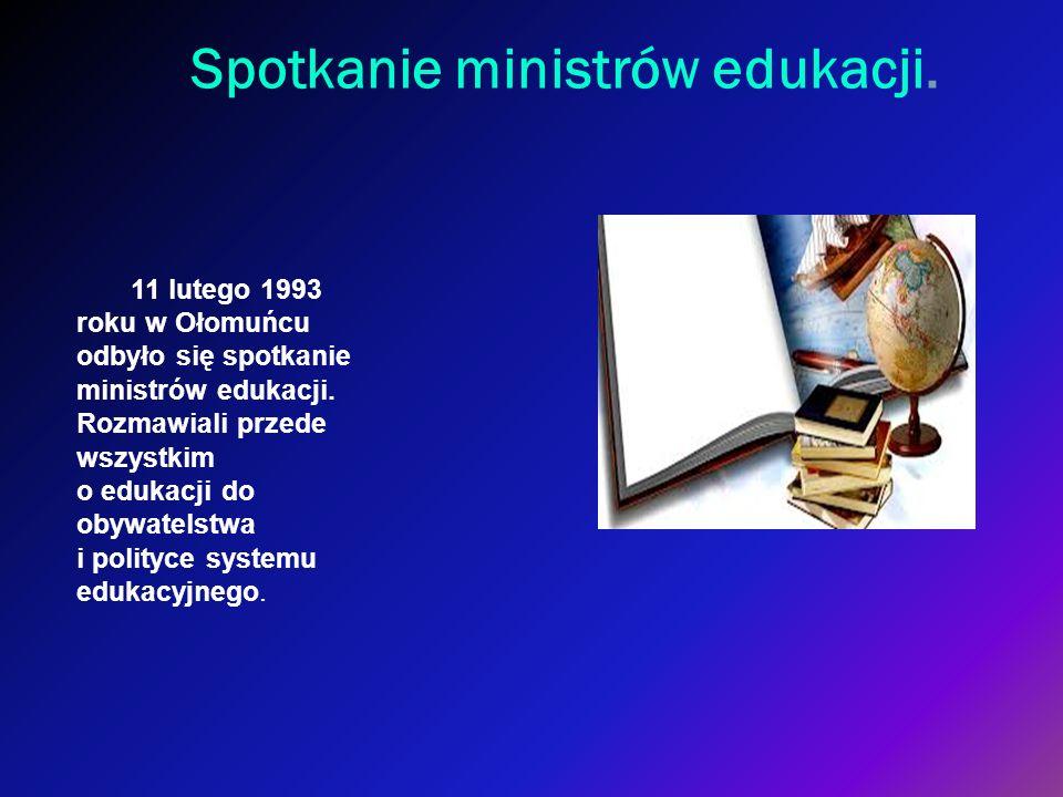 Spotkanie ministrów edukacji.