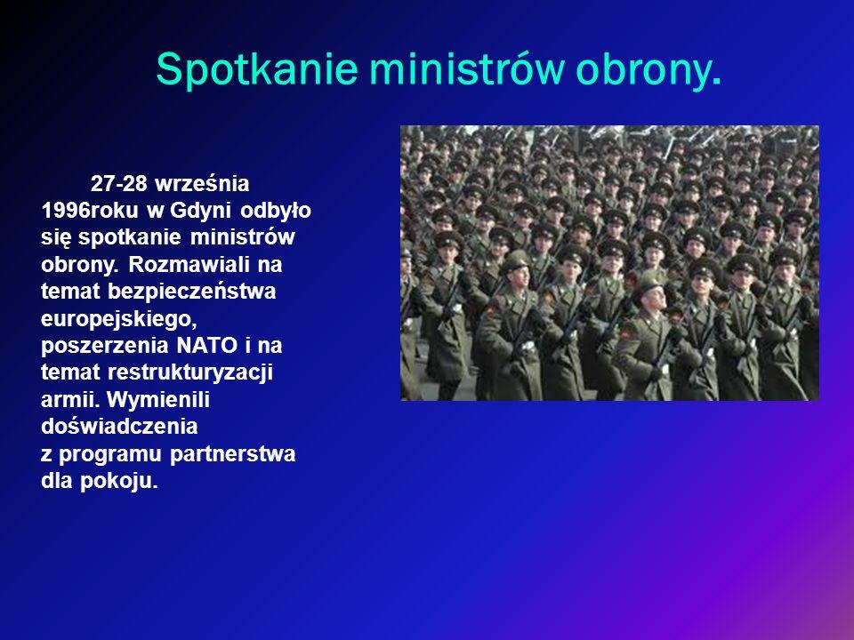 Spotkanie ministrów obrony.