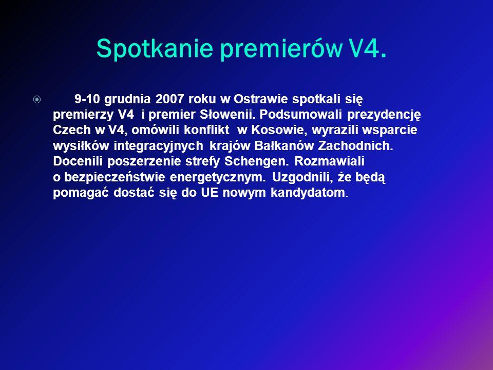 Spotkanie premierów V4.