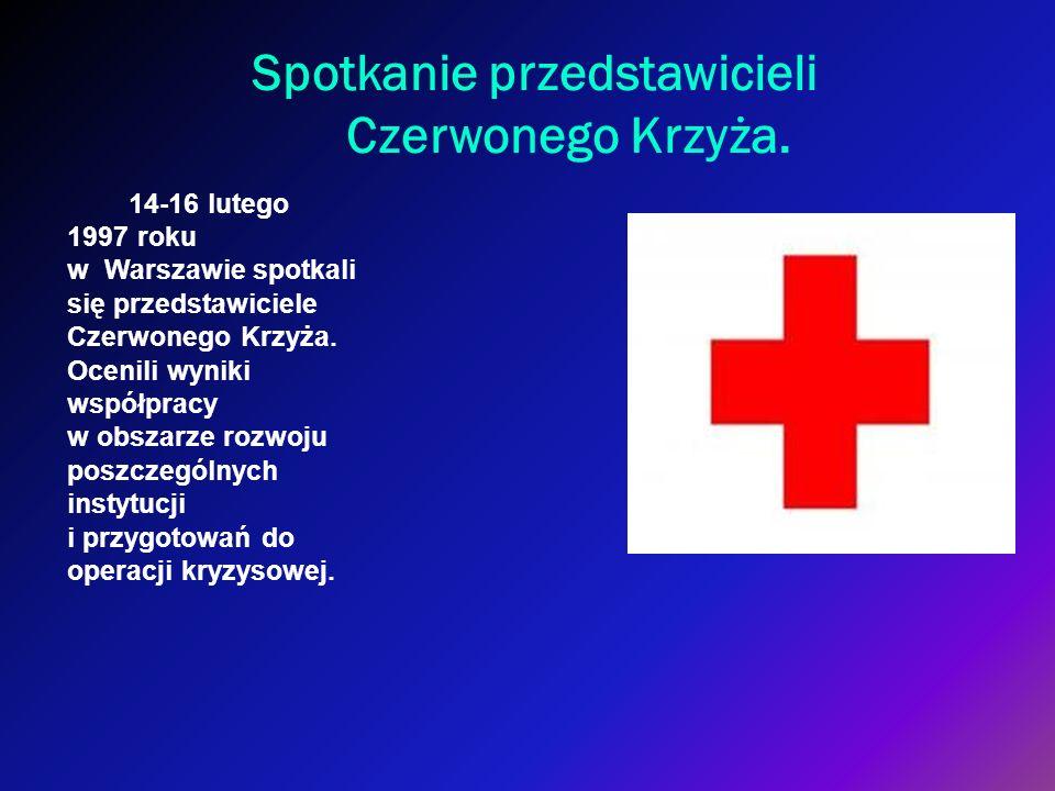Spotkanie przedstawicieli Czerwonego Krzyża.