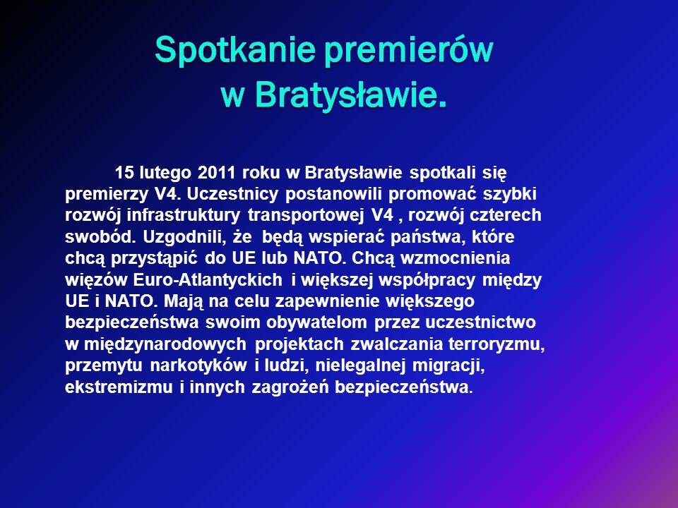 Spotkanie premierów w Bratysławie.