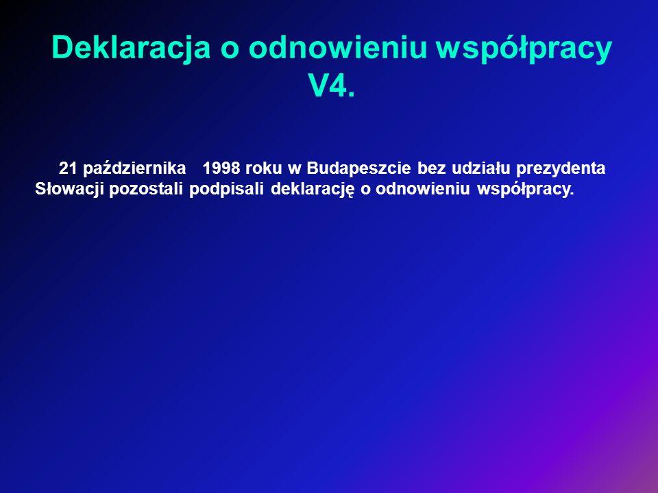 Deklaracja o odnowieniu współpracy V4.