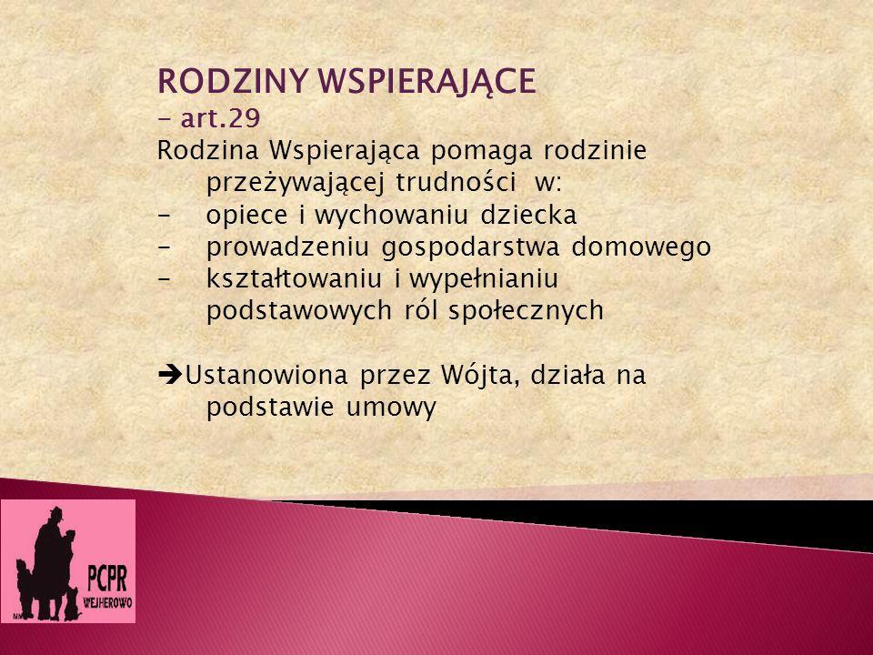 RODZINY WSPIERAJĄCE - art.29