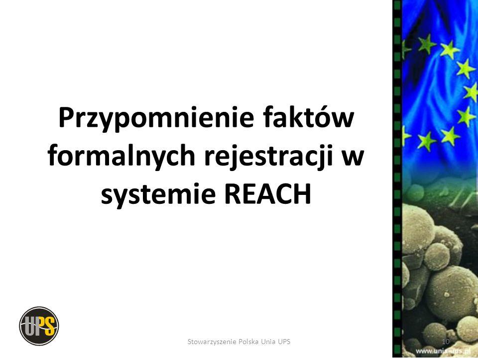 Przypomnienie faktów formalnych rejestracji w systemie REACH