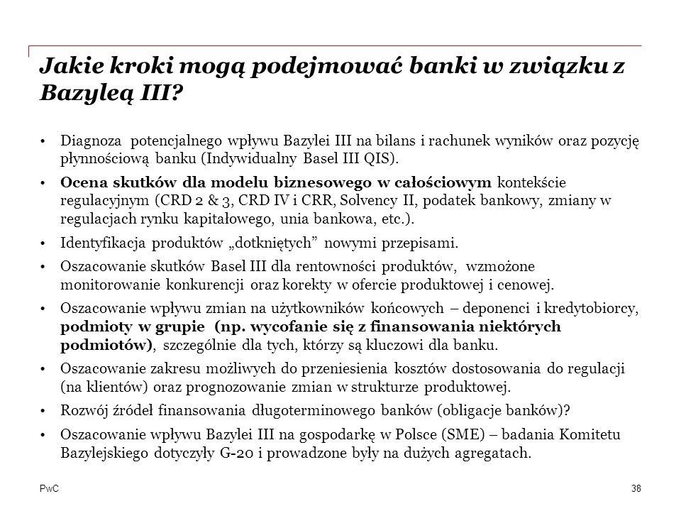 Jakie kroki mogą podejmować banki w związku z Bazyleą III