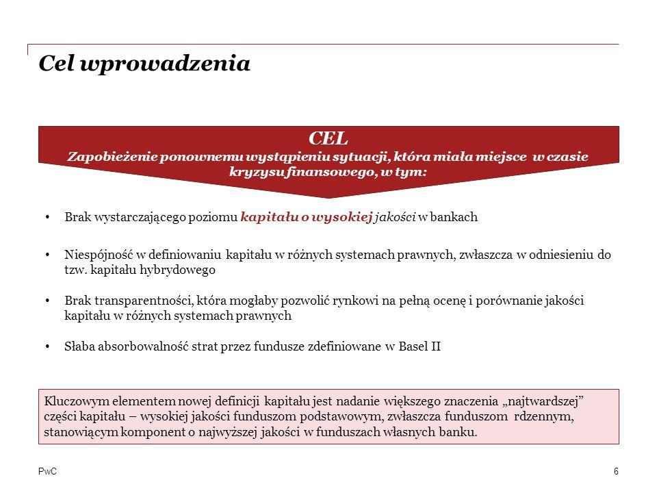 CEL Zapobieżenie ponownemu wystąpieniu sytuacji, która miała miejsce w czasie kryzysu finansowego, w tym: