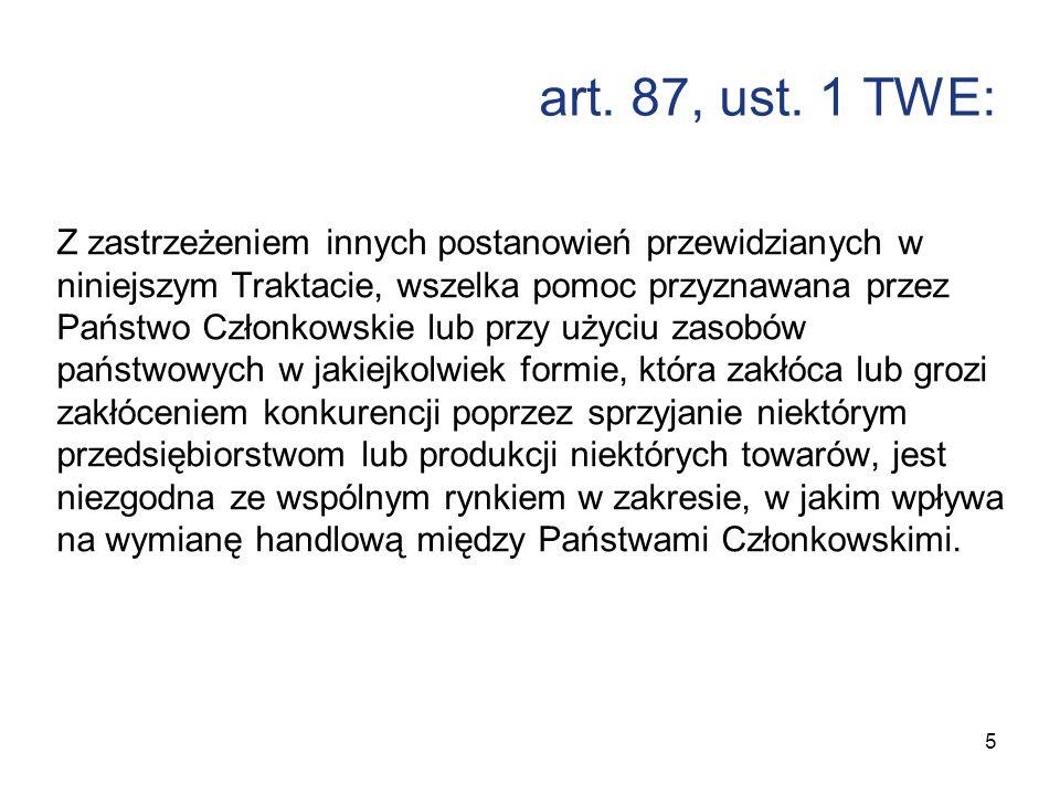art. 87, ust. 1 TWE: