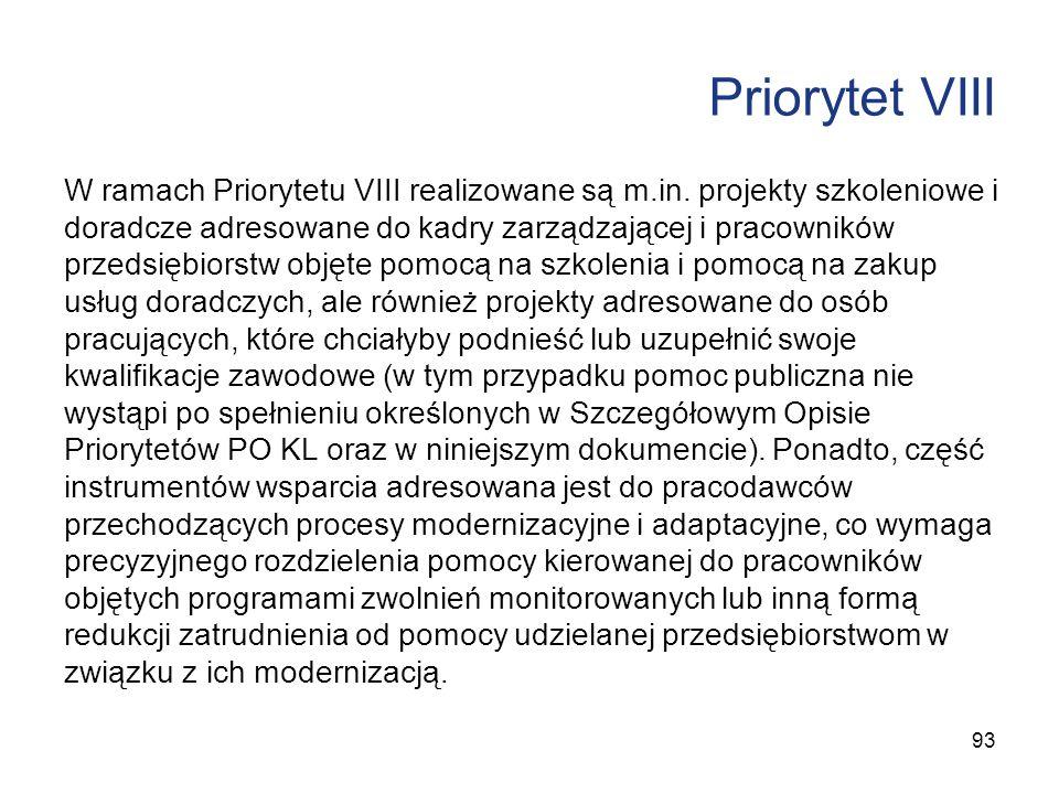 Priorytet VIII
