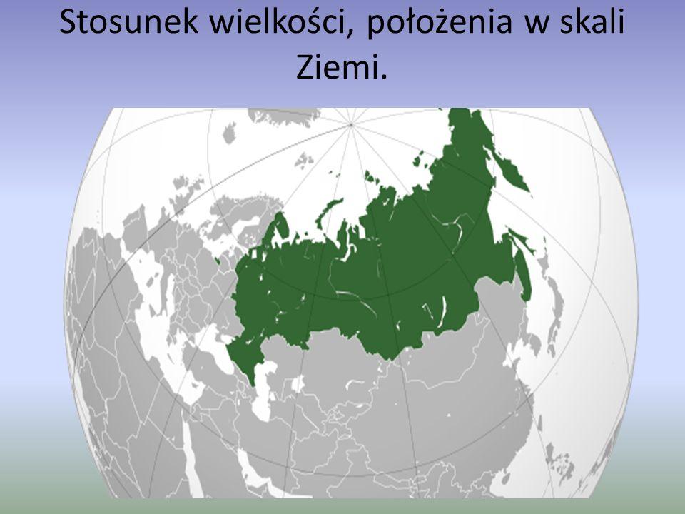 Stosunek wielkości, położenia w skali Ziemi.
