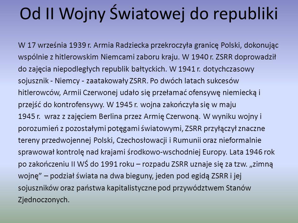Od II Wojny Światowej do republiki