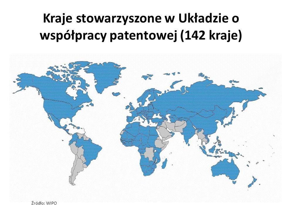Kraje stowarzyszone w Układzie o współpracy patentowej (142 kraje)