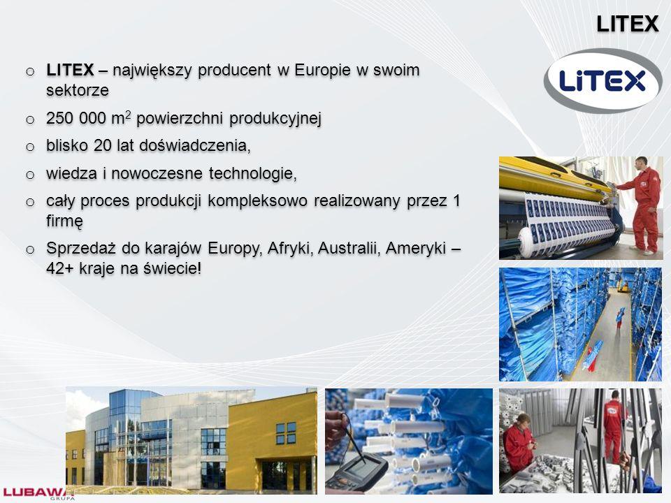 LITEX LITEX – największy producent w Europie w swoim sektorze
