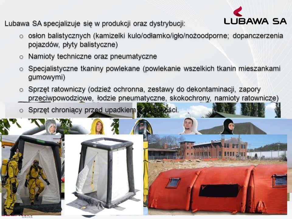 Lubawa SA specjalizuje się w produkcji oraz dystrybucji: