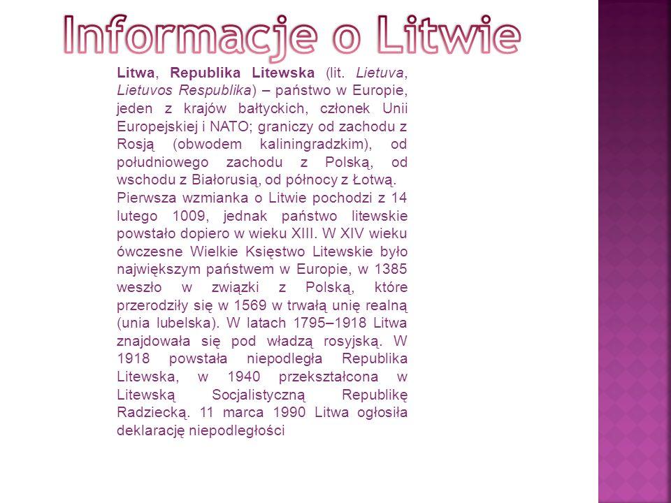 Informacje o Litwie