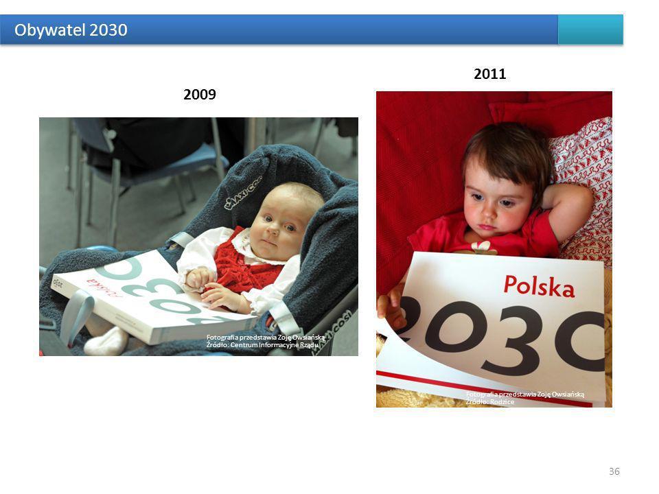 Obywatel 2030 2011. 2009. Fotografia przedstawia Zoję Owsiańską Źródło: Centrum Informacyjne Rządu.