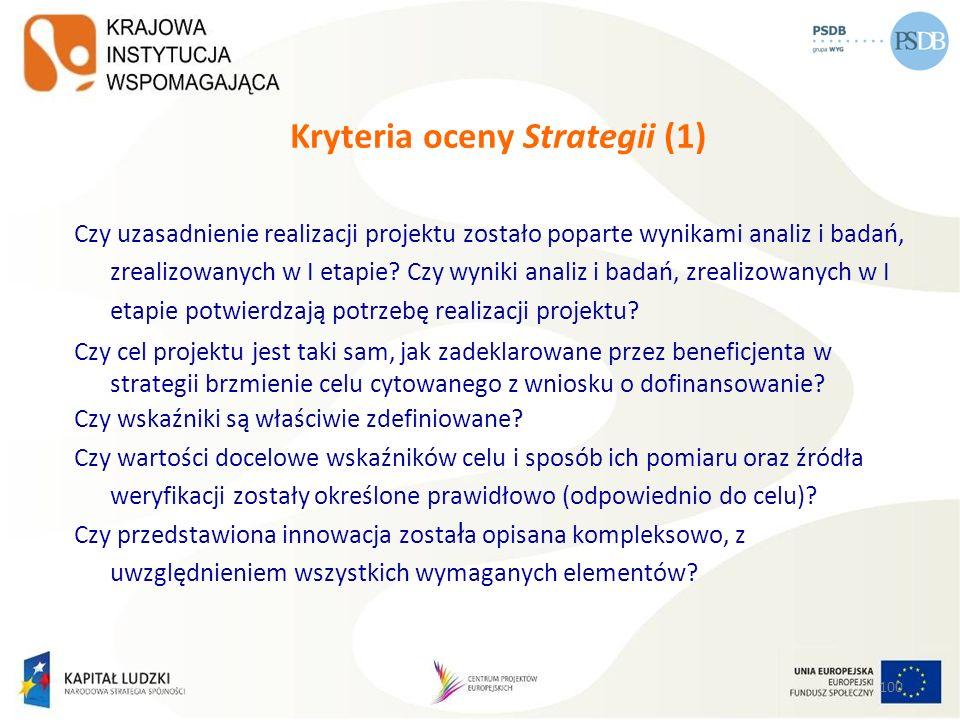 Kryteria oceny Strategii (1)