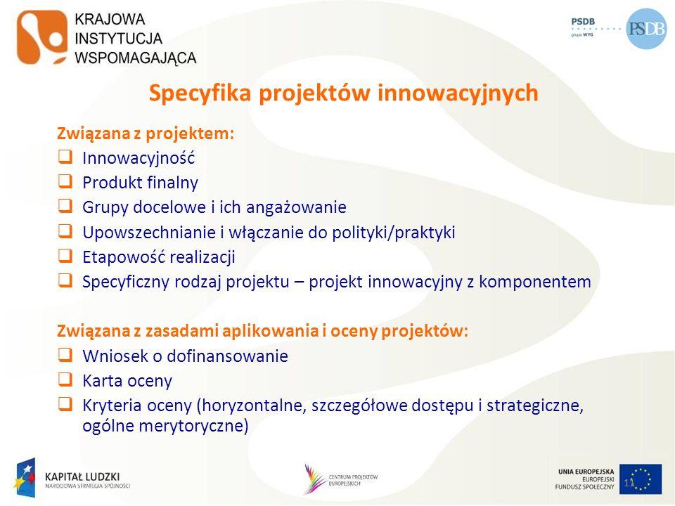 Specyfika projektów innowacyjnych