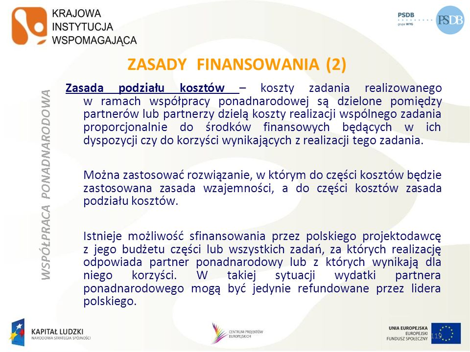 ZASADY FINANSOWANIA (2)