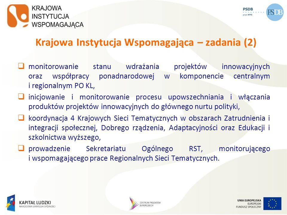 Krajowa Instytucja Wspomagająca – zadania (2)