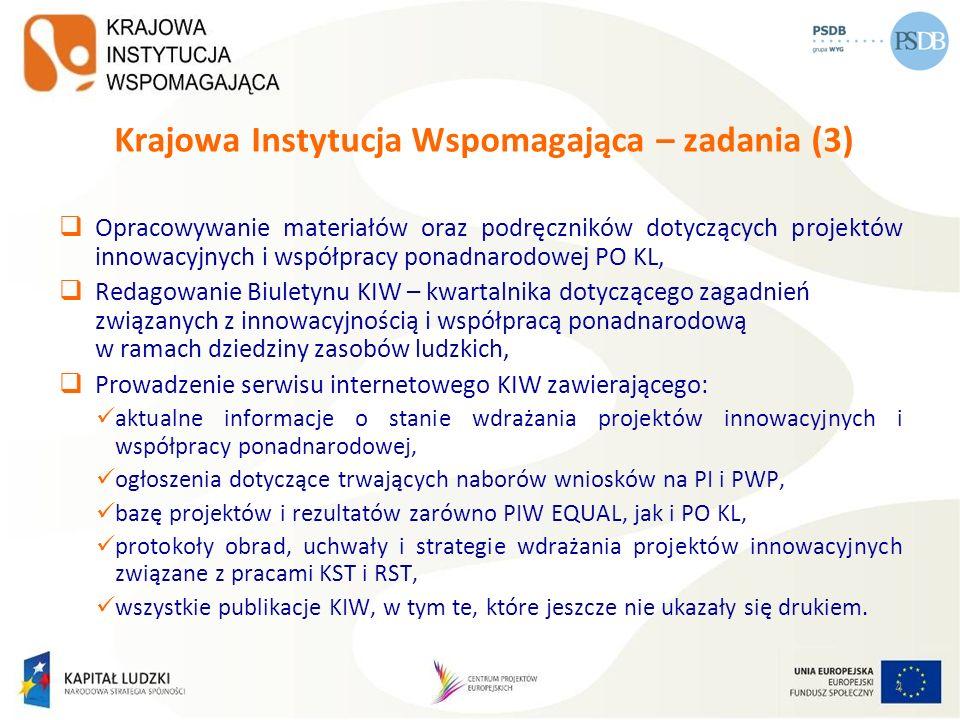 Krajowa Instytucja Wspomagająca – zadania (3)