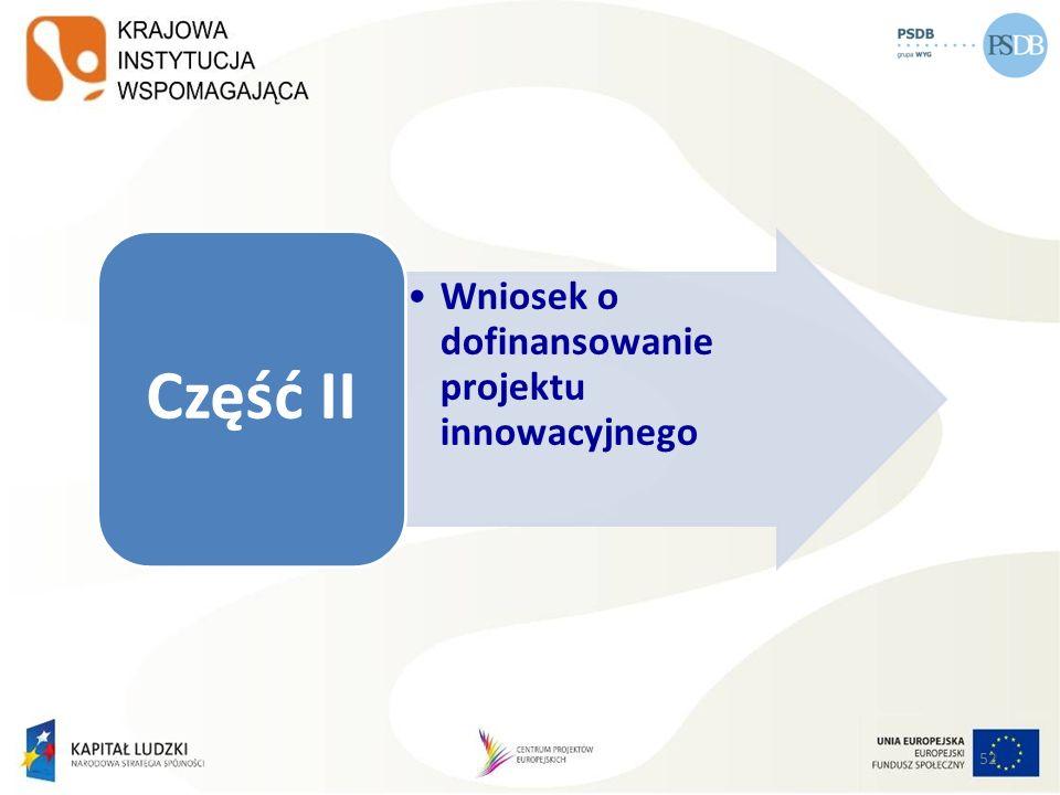 Wniosek o dofinansowanie projektu innowacyjnego