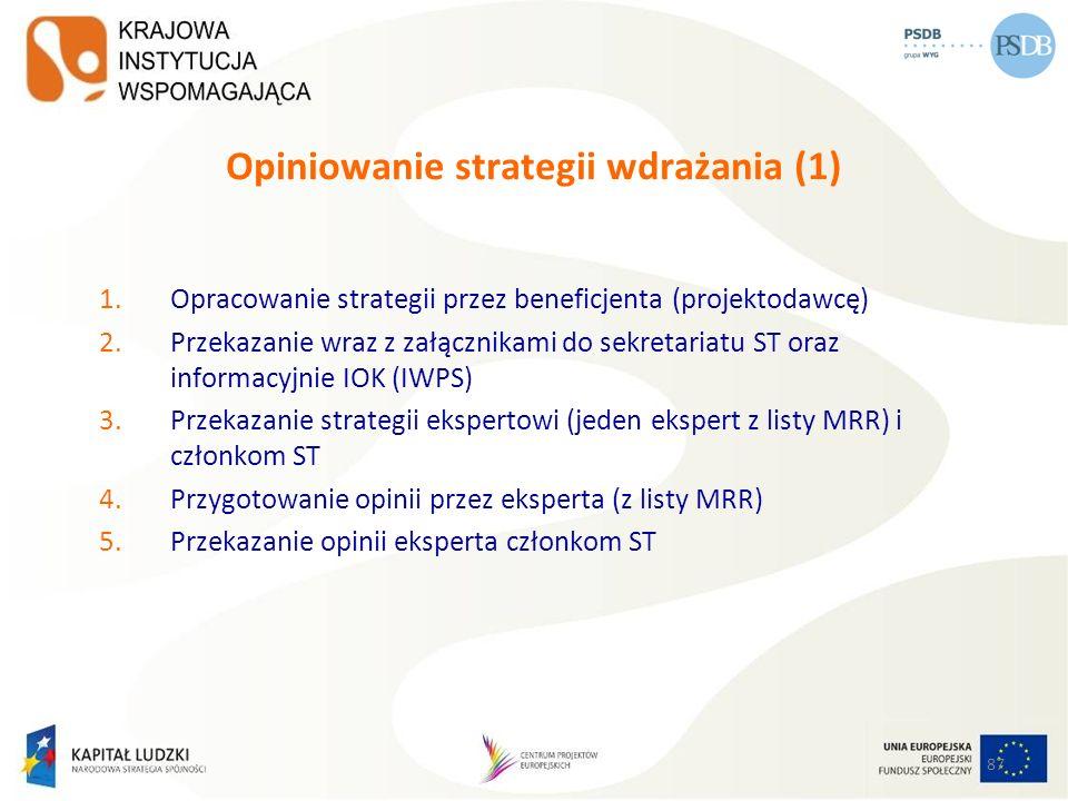 Opiniowanie strategii wdrażania (1)
