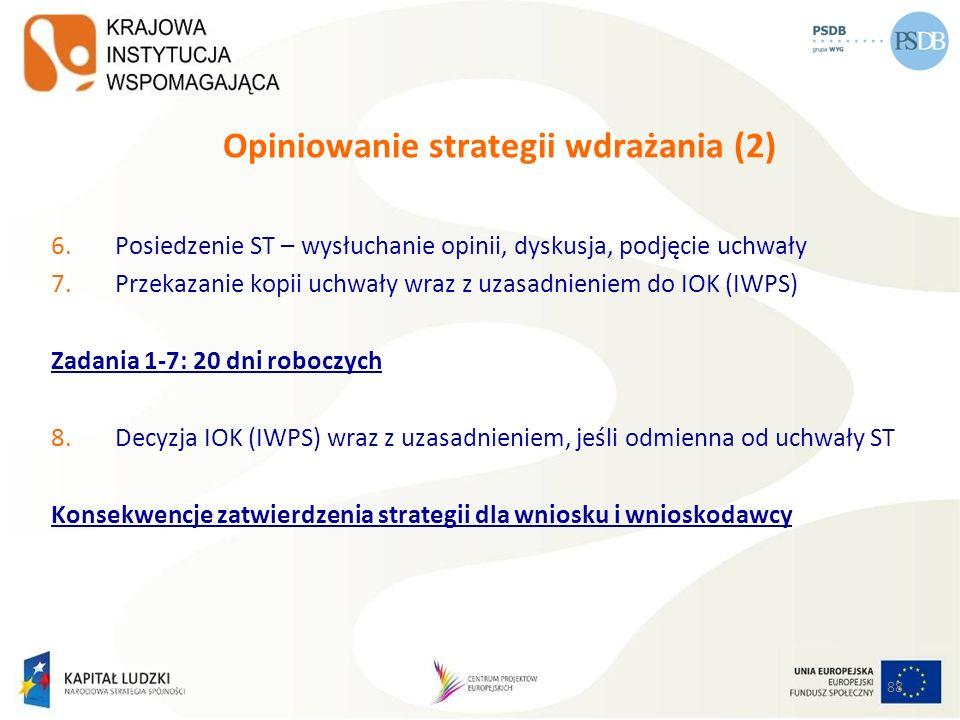 Opiniowanie strategii wdrażania (2)