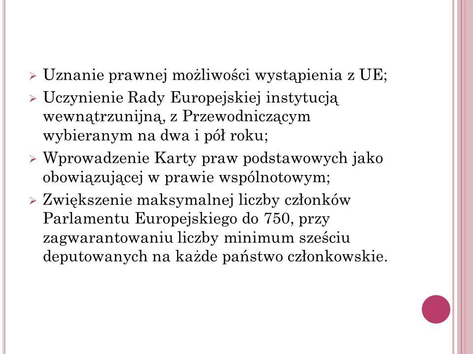 Uznanie prawnej możliwości wystąpienia z UE;