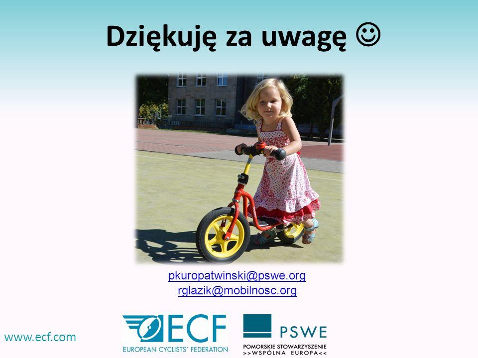 Dziękuję za uwagę  www.ecf.com pkuropatwinski@pswe.org