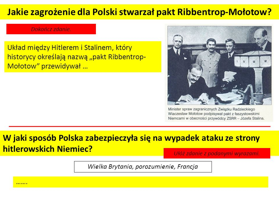 Jakie zagrożenie dla Polski stwarzał pakt Ribbentrop-Mołotow