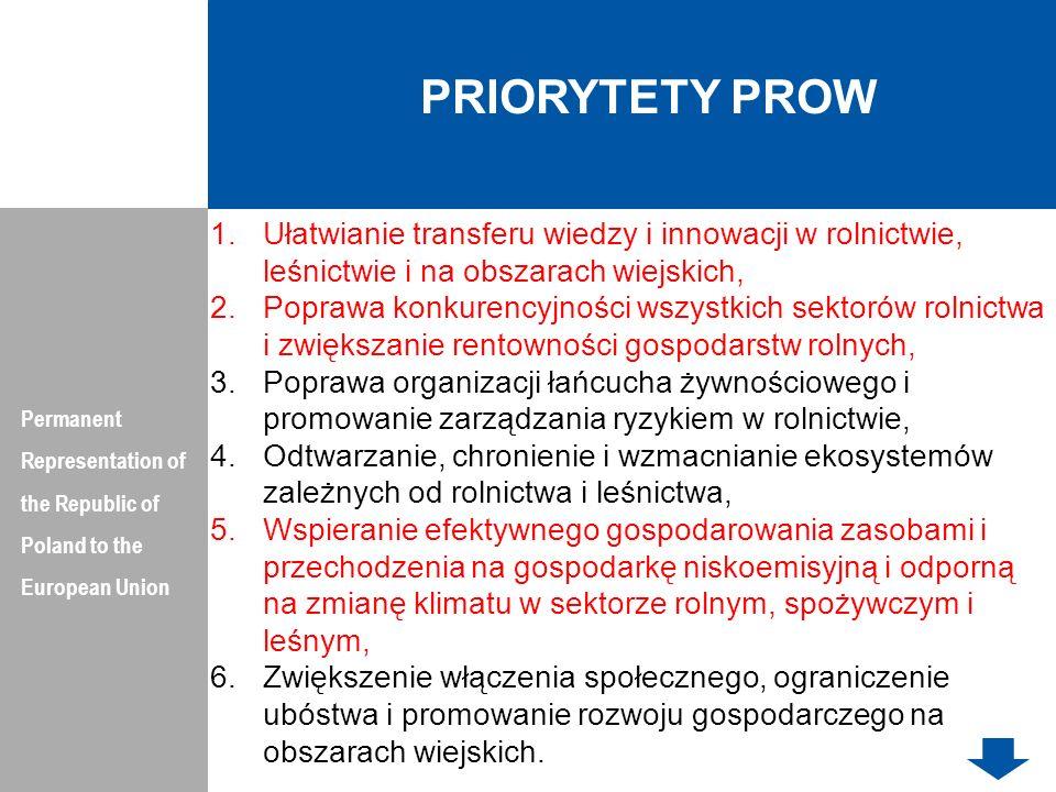 PRIORYTETY PROWPermanent Representation of the Republic of Poland to the European Union.