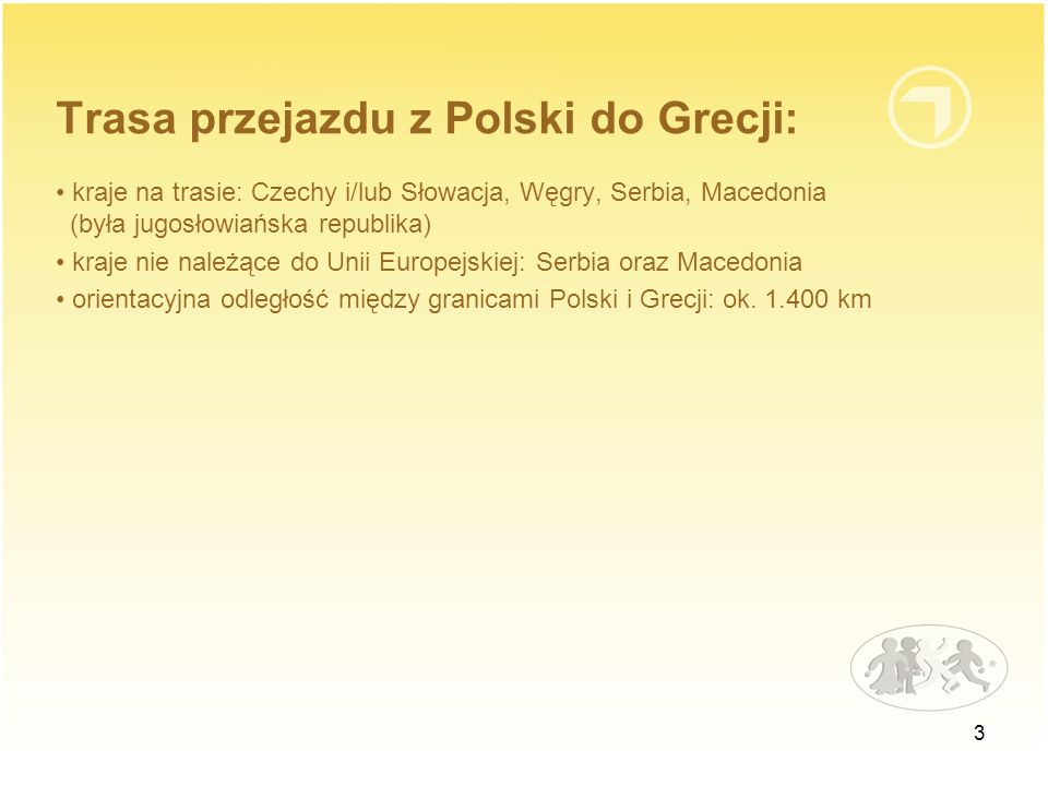 Trasa przejazdu z Polski do Grecji:
