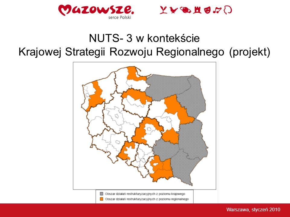 NUTS- 3 w kontekście Krajowej Strategii Rozwoju Regionalnego (projekt)