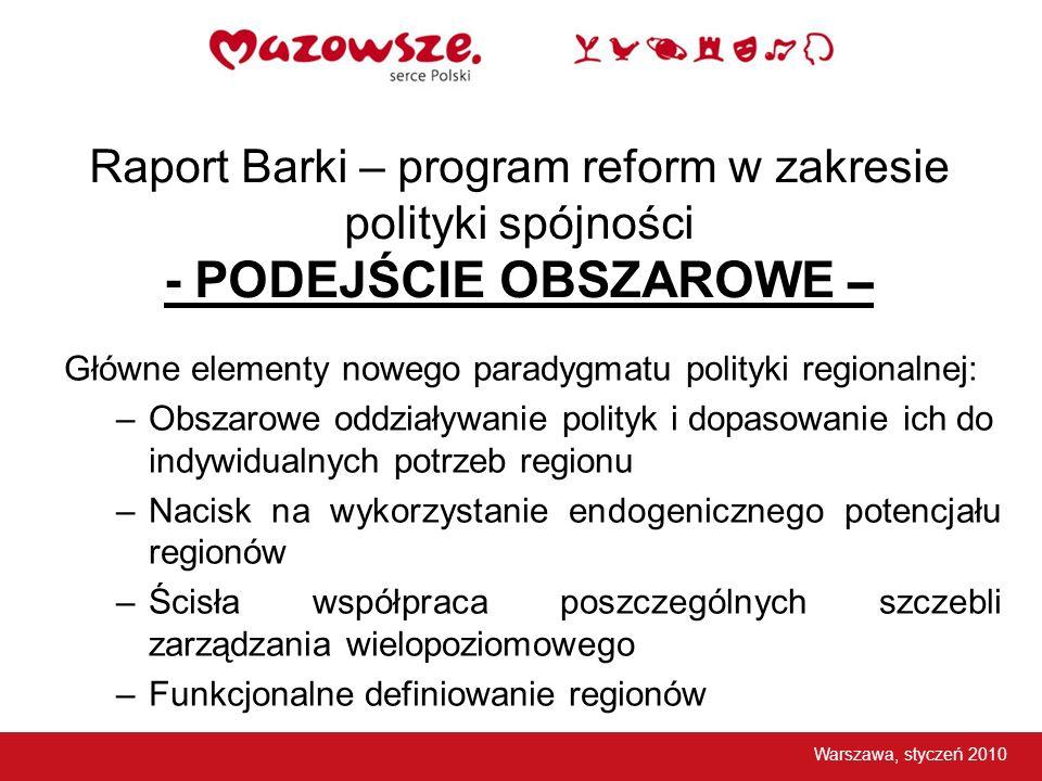 Raport Barki – program reform w zakresie polityki spójności - PODEJŚCIE OBSZAROWE –