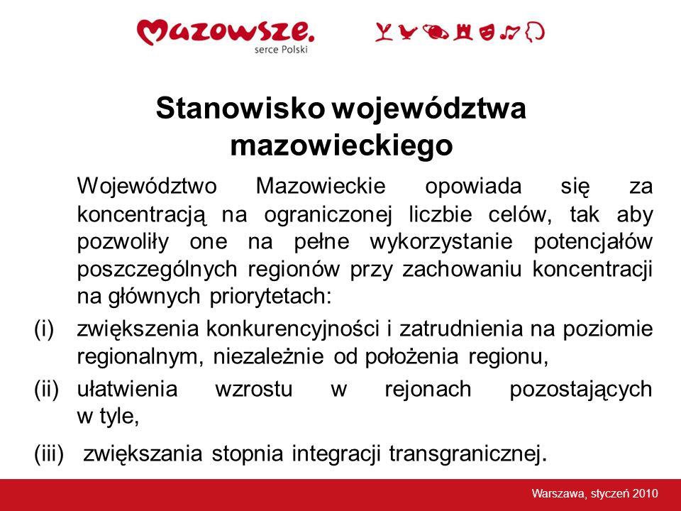 Stanowisko województwa mazowieckiego