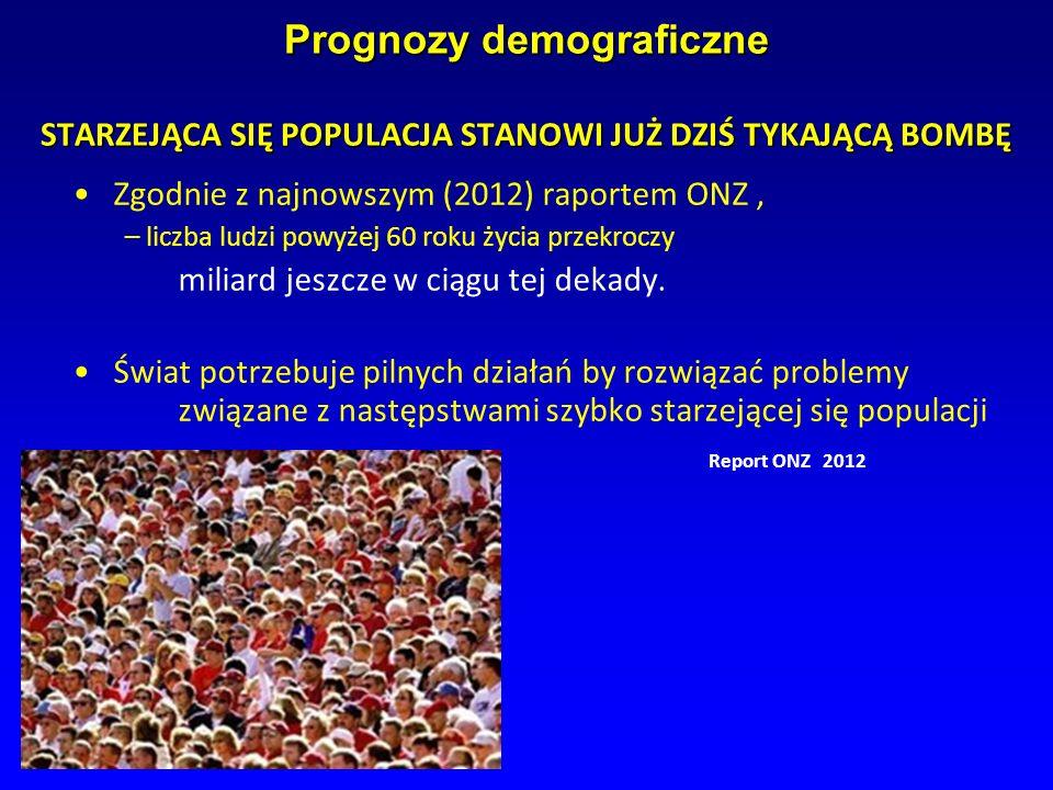Prognozy demograficzne STARZEJĄCA SIĘ POPULACJA STANOWI JUŻ DZIŚ TYKAJĄCĄ BOMBĘ