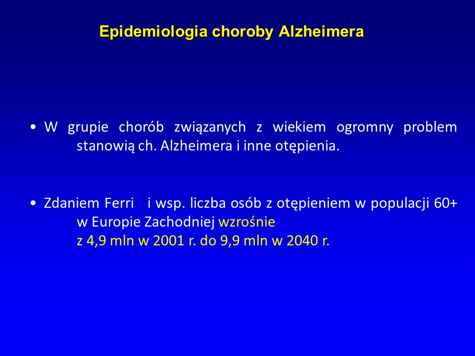 Epidemiologia choroby Alzheimera
