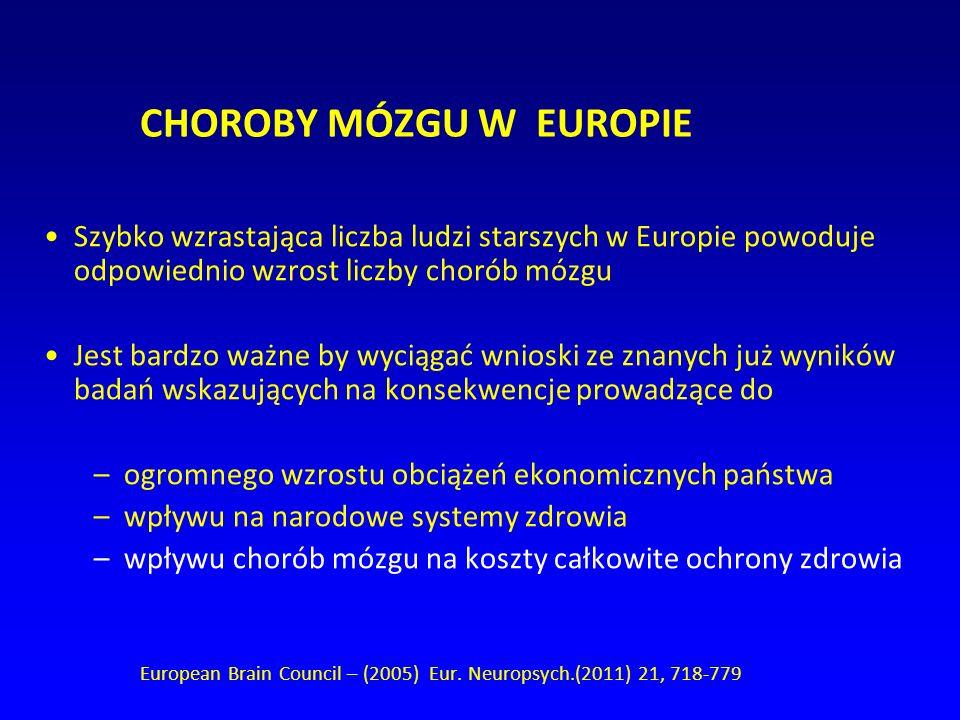 CHOROBY MÓZGU W EUROPIE