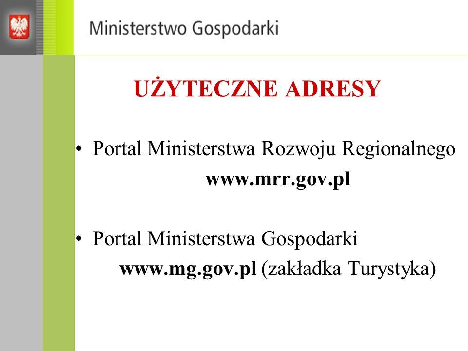 www.mg.gov.pl (zakładka Turystyka)
