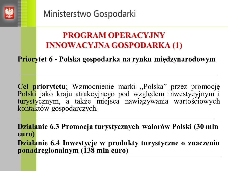 PROGRAM OPERACYJNY INNOWACYJNA GOSPODARKA (1)