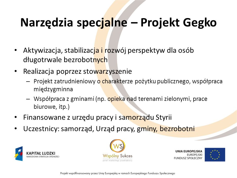 Narzędzia specjalne – Projekt Gegko