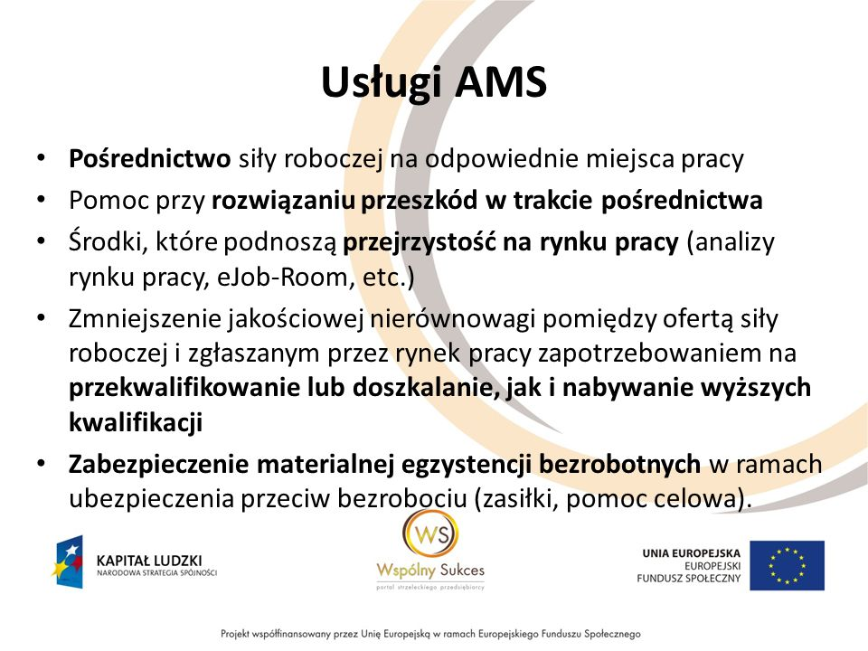 Usługi AMS Pośrednictwo siły roboczej na odpowiednie miejsca pracy