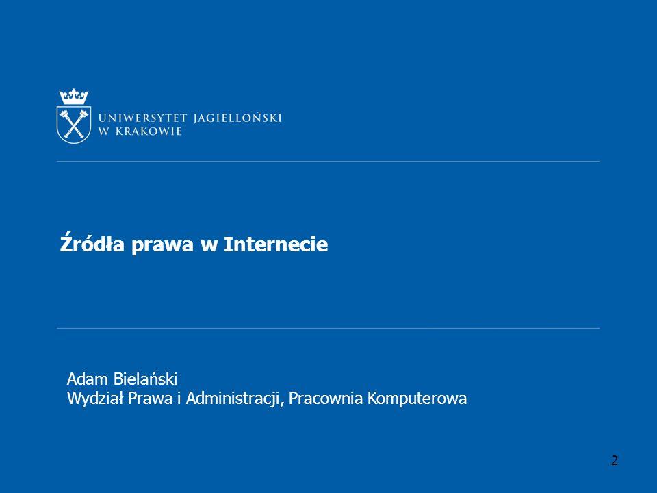 Źródła prawa w Internecie