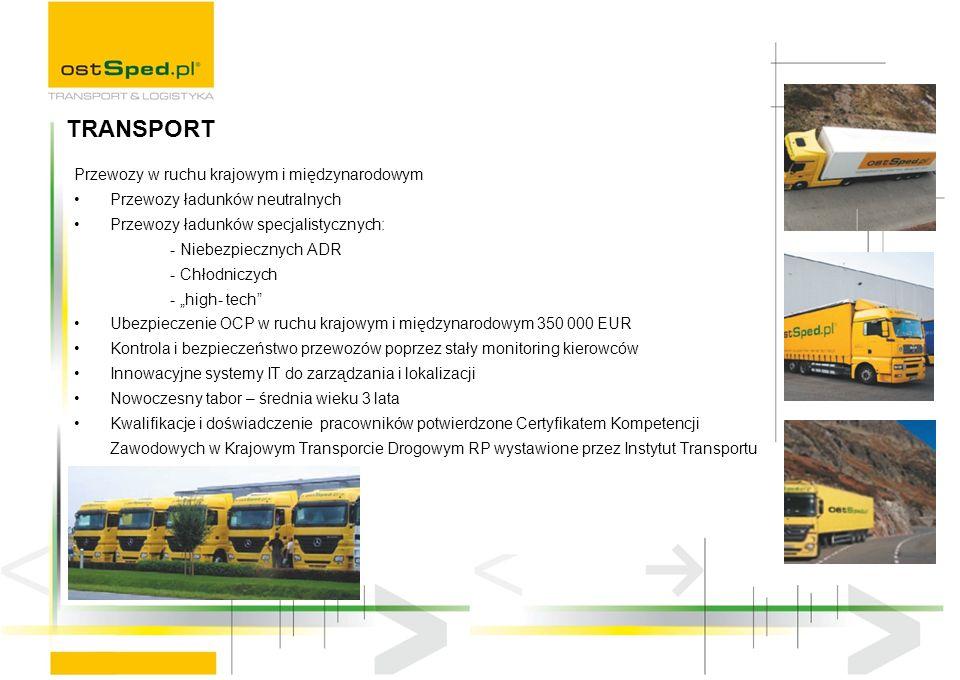 TRANSPORT Przewozy w ruchu krajowym i międzynarodowym