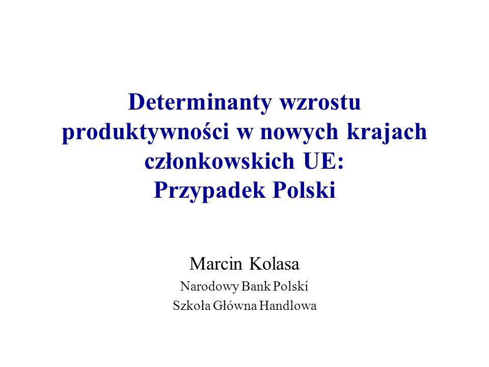 Marcin Kolasa Narodowy Bank Polski Szkoła Główna Handlowa