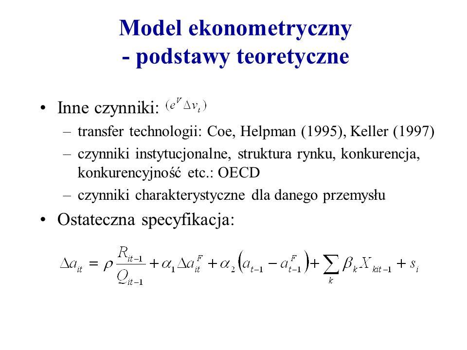 Model ekonometryczny - podstawy teoretyczne