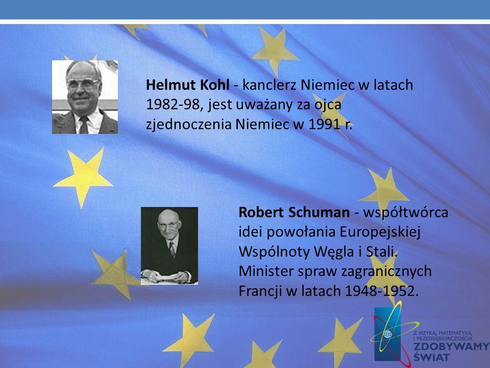 Helmut Kohl - kanclerz Niemiec w latach 1982-98, jest uważany za ojca zjednoczenia Niemiec w 1991 r.